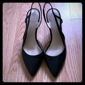 Sling back Nine West heels. Size 9